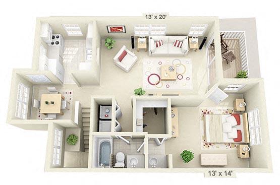1 Bedroom Upstairs