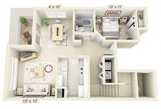 2 Bedroom Townhouse w/ Den