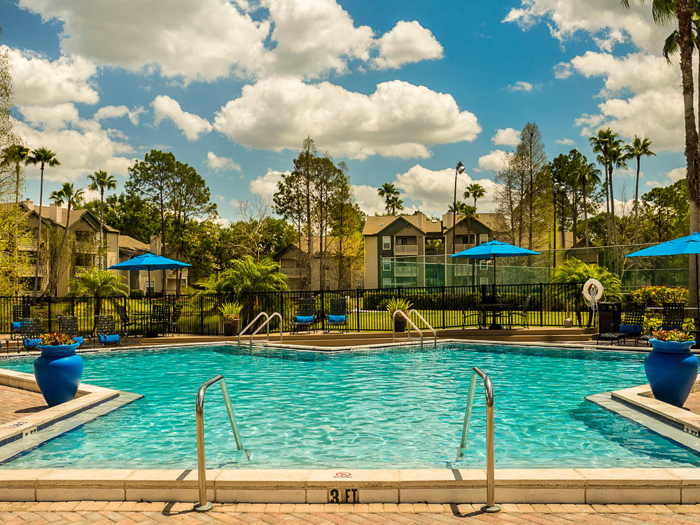 Resort Pool with Expanded Sundeck & Gas Grills