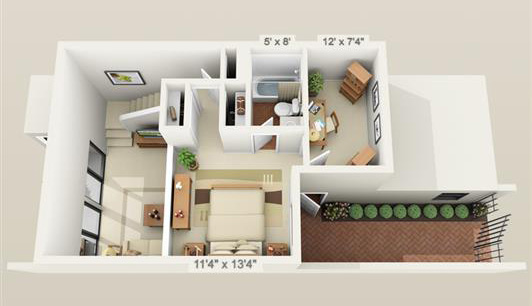 Townhouse with Study