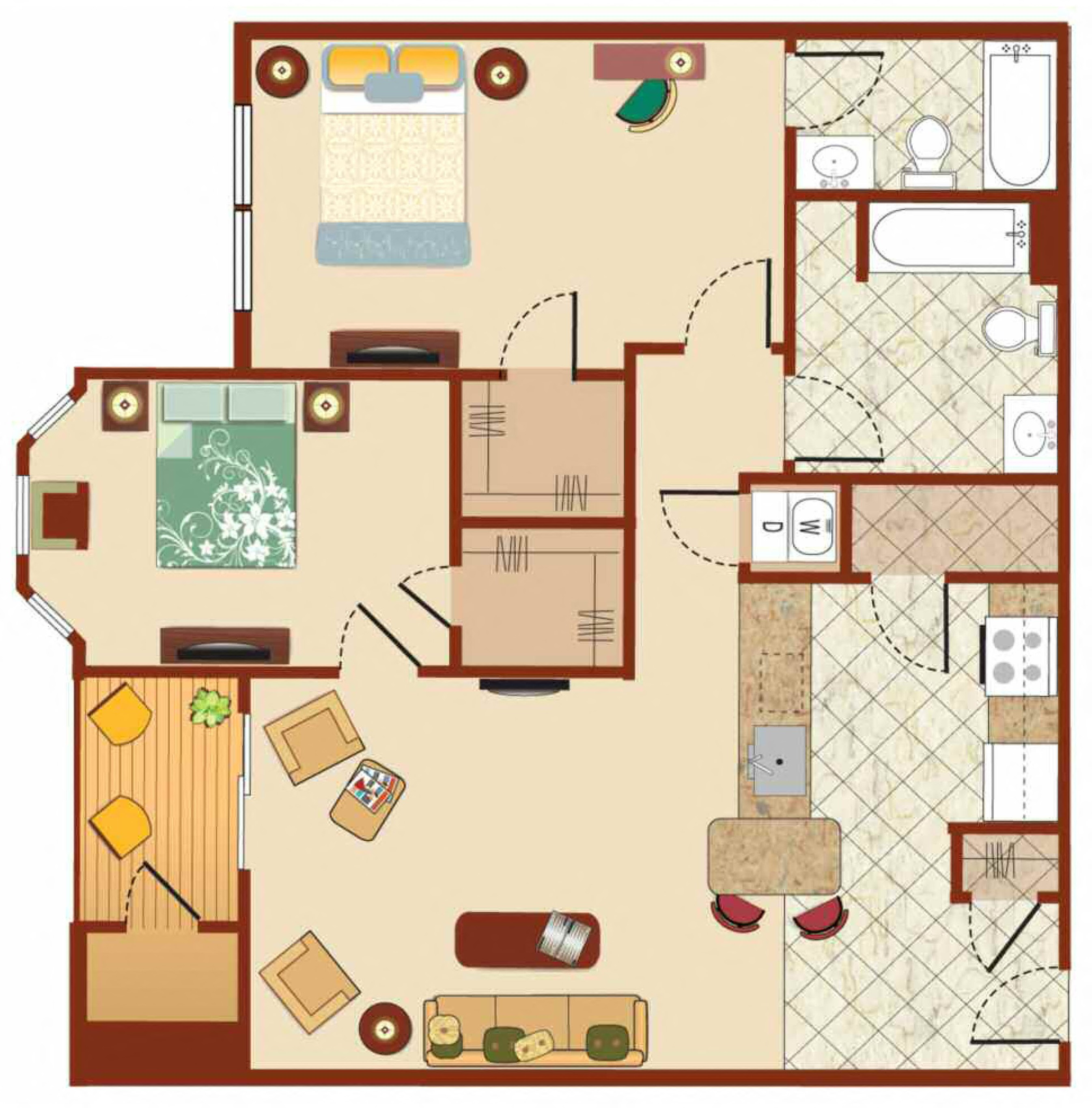 Floorplans The Enclaves Philadelphia PA Philadelphia
