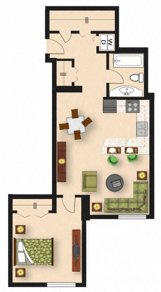 1 Bedroom A3
