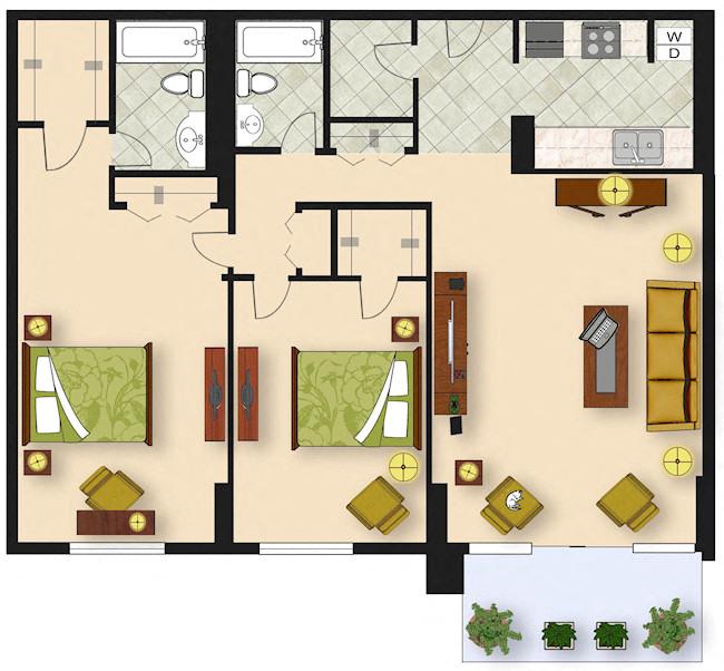2 Bedroom B3