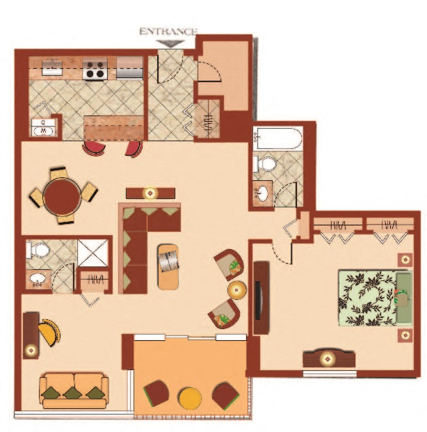 1 Bedroom 1 Bath with Den