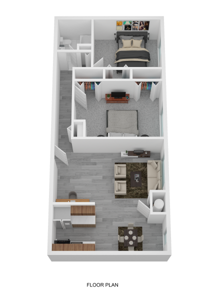 2 Bedroom Center
