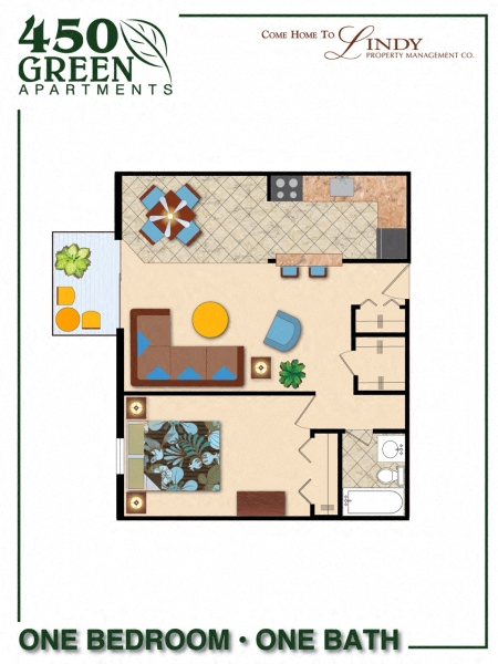 1 Bedroom w/ Balcony