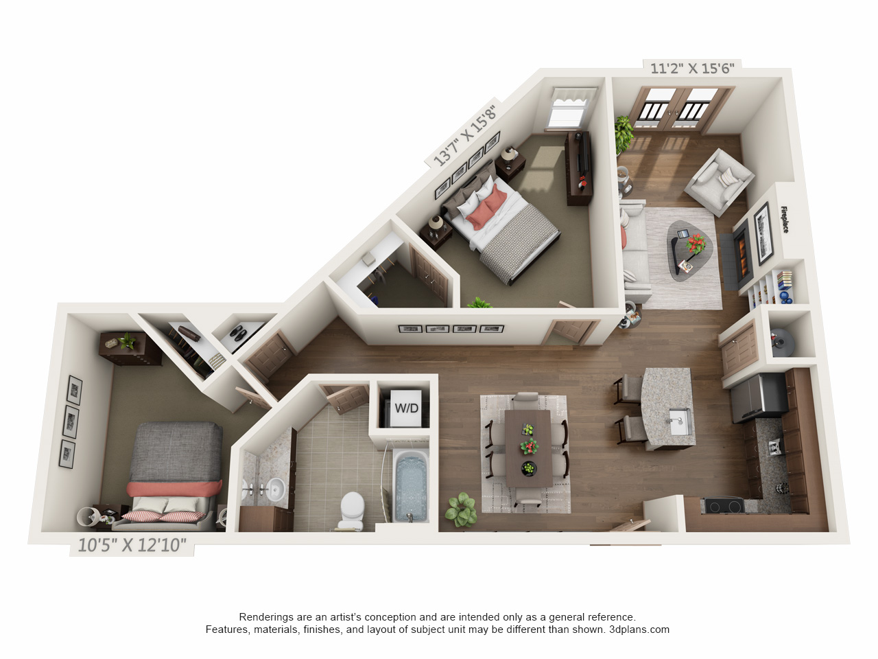 2 bed small. The Orion Apartments in the Central West End   Mills Apartments