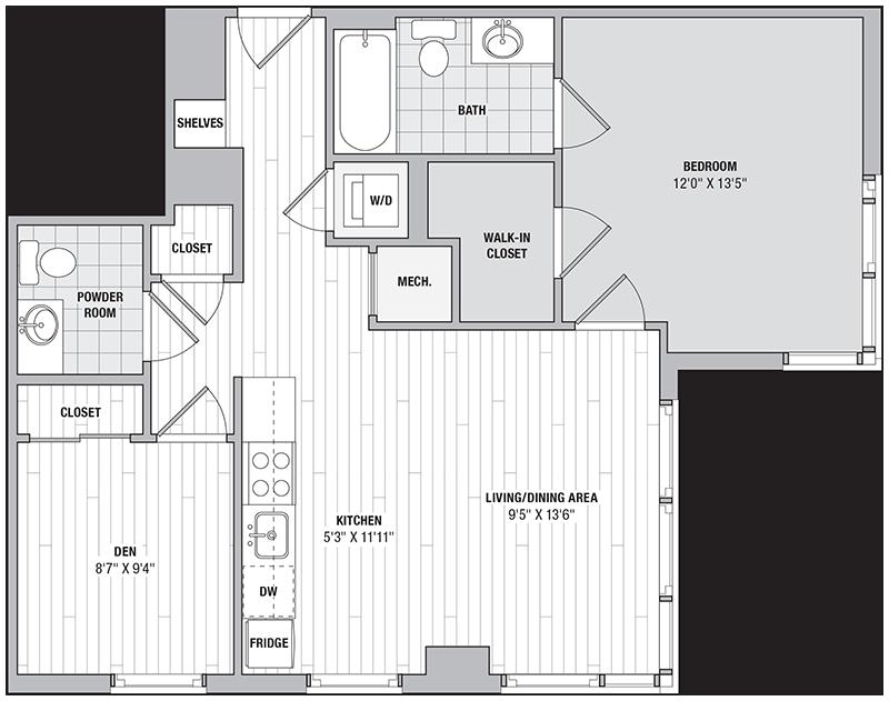 Floor Plan Image of Unit 11216