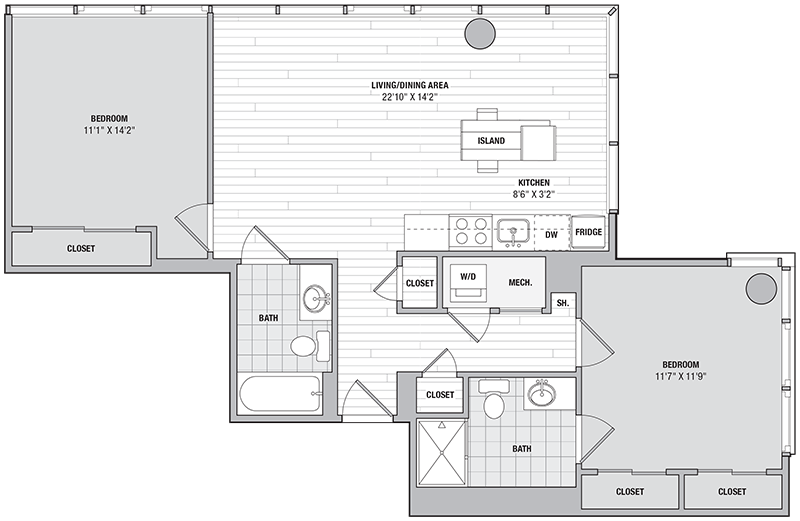 Floor Plan Image of Unit 11216