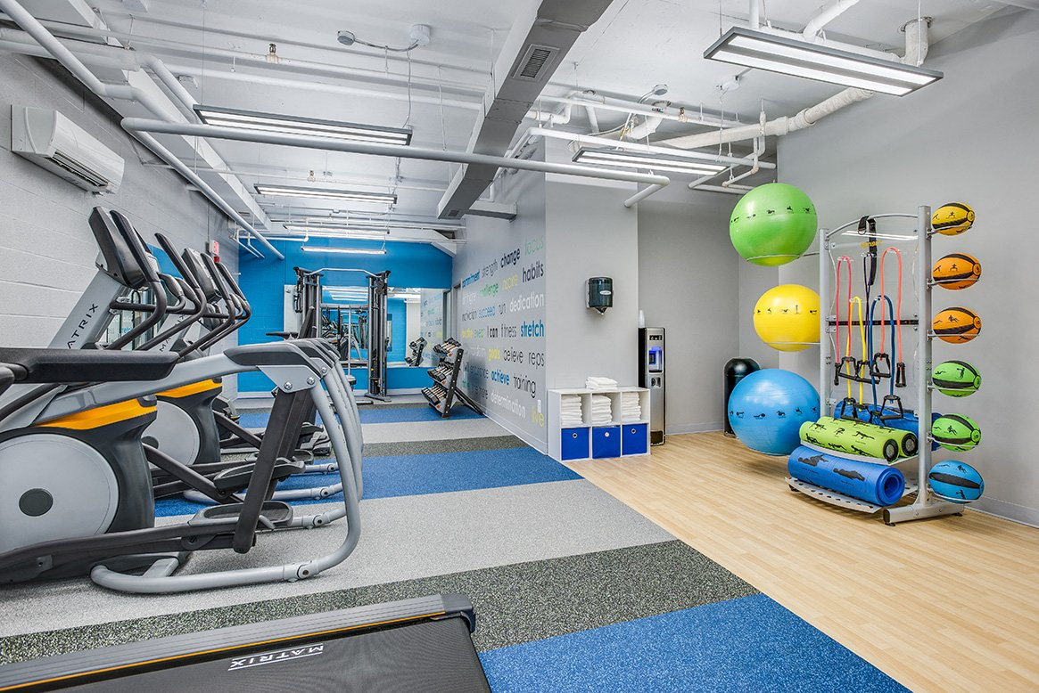 Residences at Rio apartments gym in Gaithersburg, Maryland