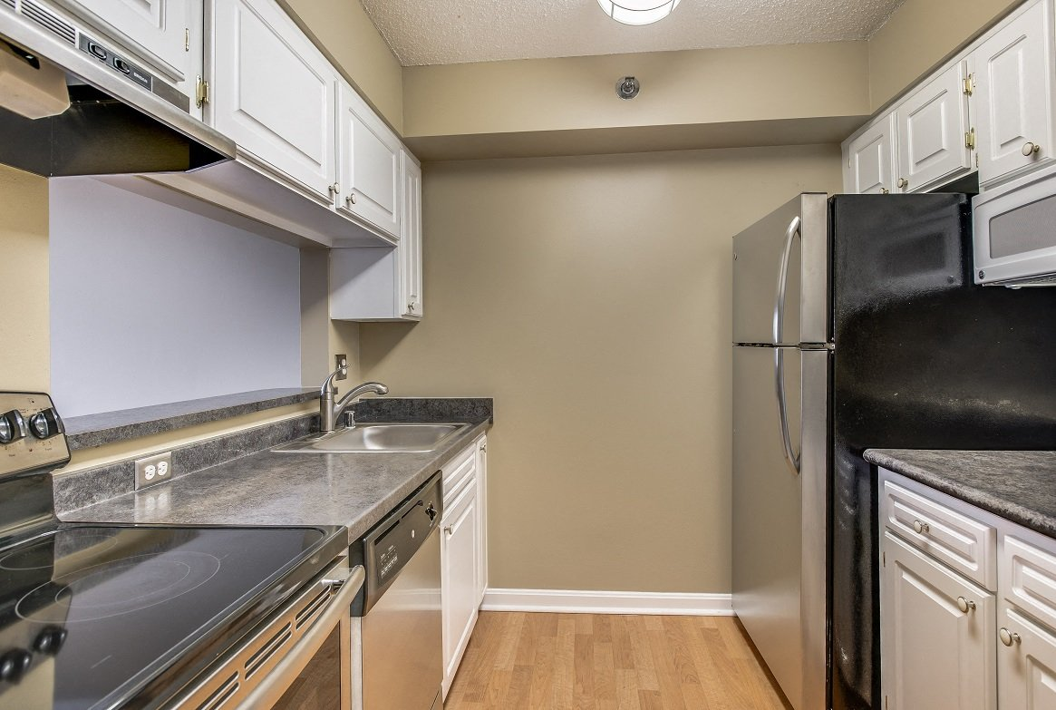Residences at Rio apartments kitchen in Gaithersburg, Maryland