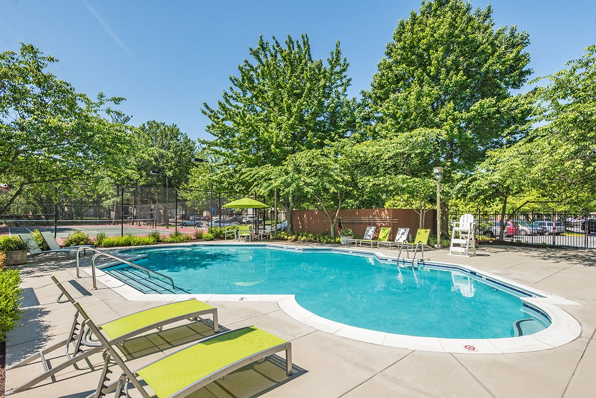 Residences at Rio apartments pool in Gaithersburg, Maryland