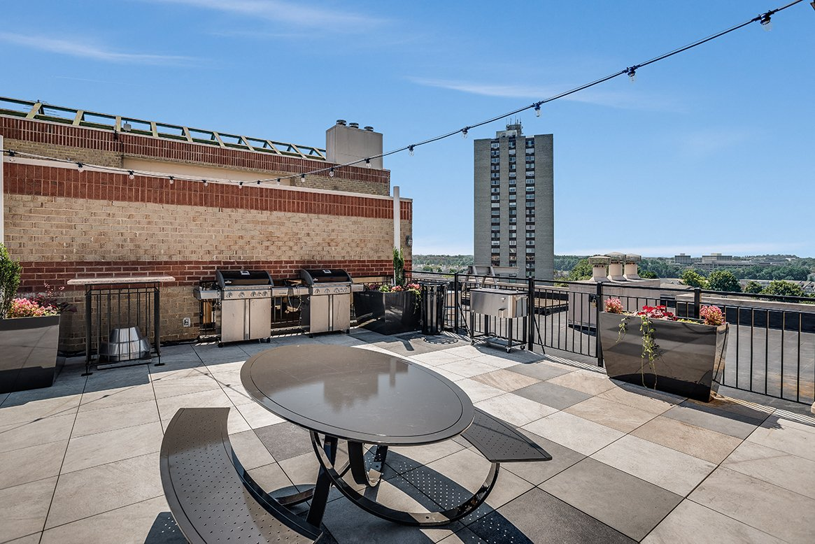 Residences at Rio apartments rooftop in Gaithersburg, Maryland