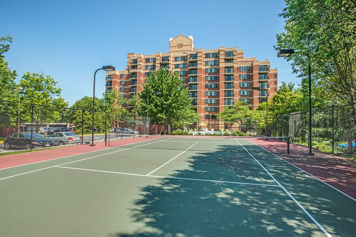 Residences at Rio apartments tennis court in Gaithersburg, Maryland