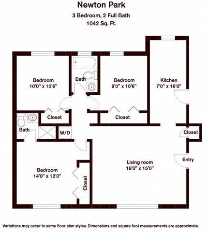 Floor plan 3 Bedroom image 2