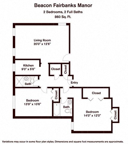 Floor plan 2 Bedroom image 2