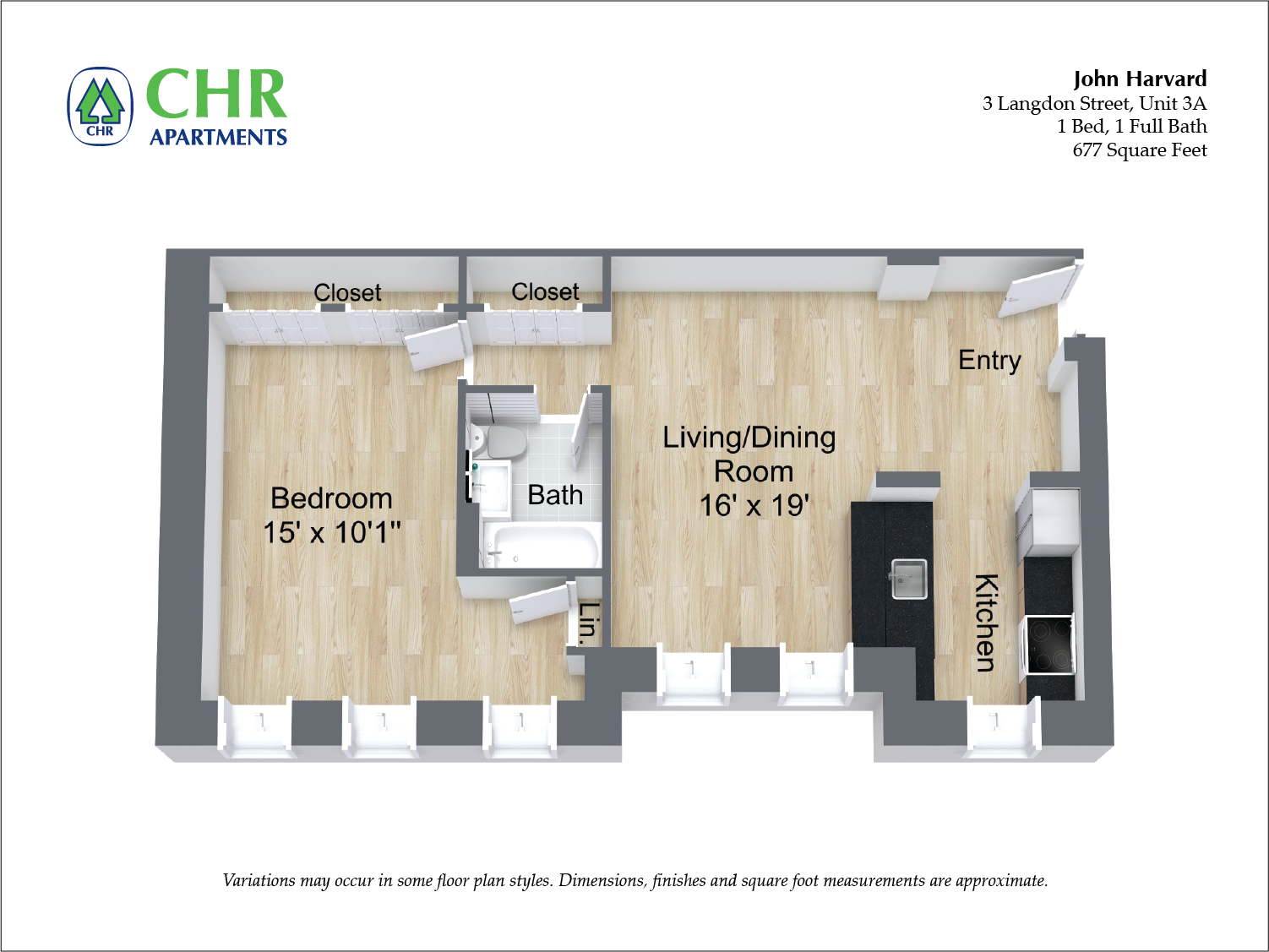 Click to view 1 Bedroom floor plan gallery