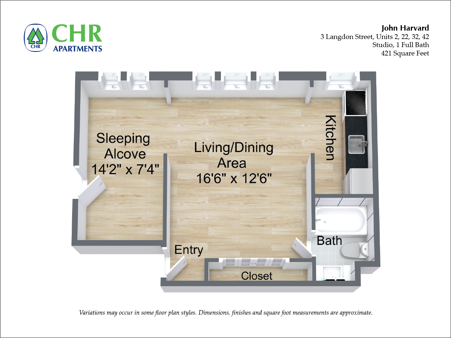 Floor plan 1 Bedroom image 9