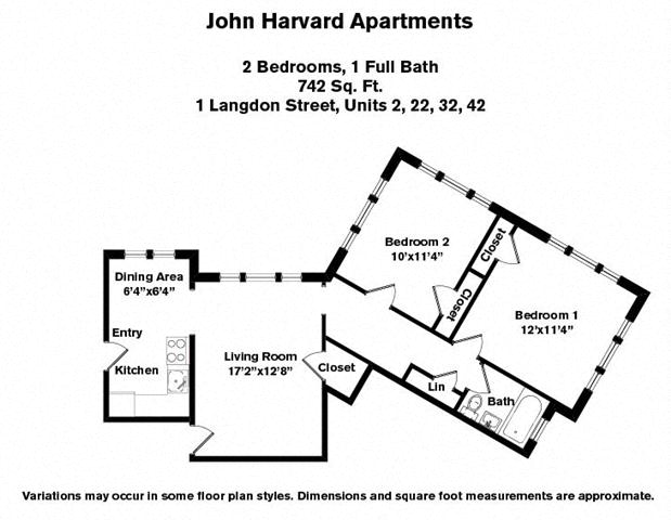Floor plan 2 Bedroom image 2
