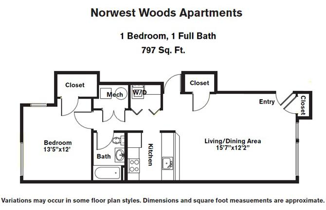 Click to view Floor plan 1 BR - Single Level image 4