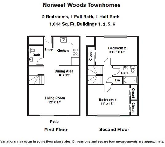 Click to view Floor plan 2 BR - Townhome image 2