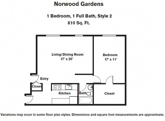 Click to view 1 BR w/ Walk-In Closets floor plan gallery