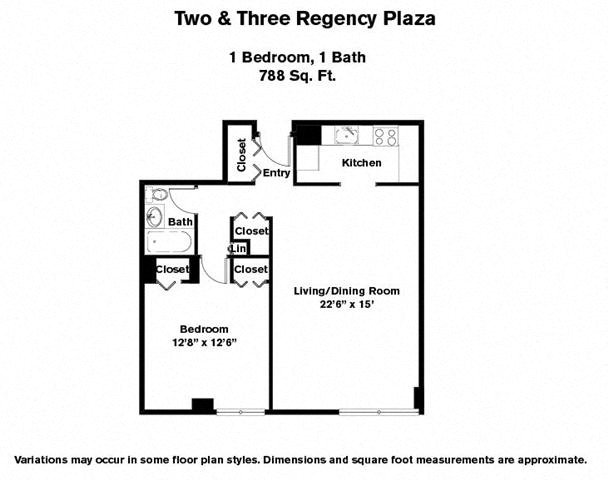 Click to view Floor plan 1 BR image 3