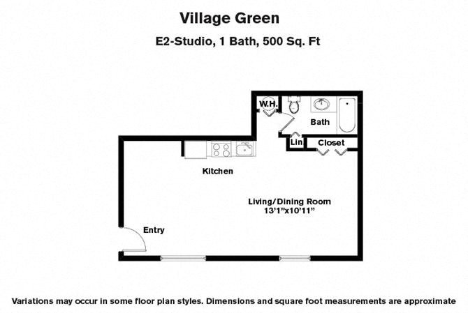 Click to view Studios floor plan gallery