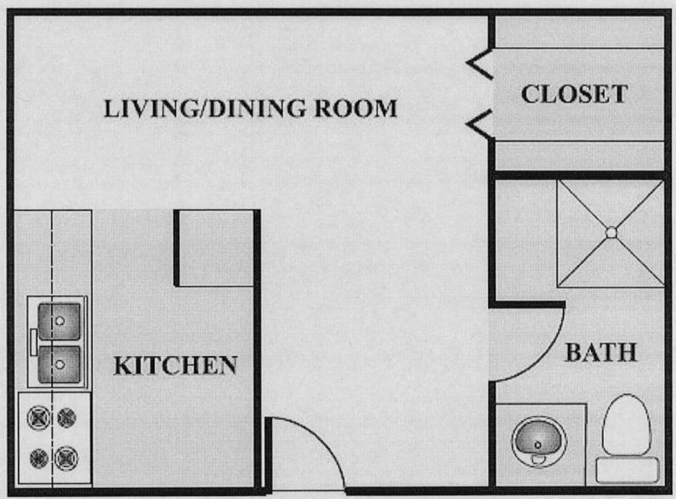 Floor plan Studios image 2