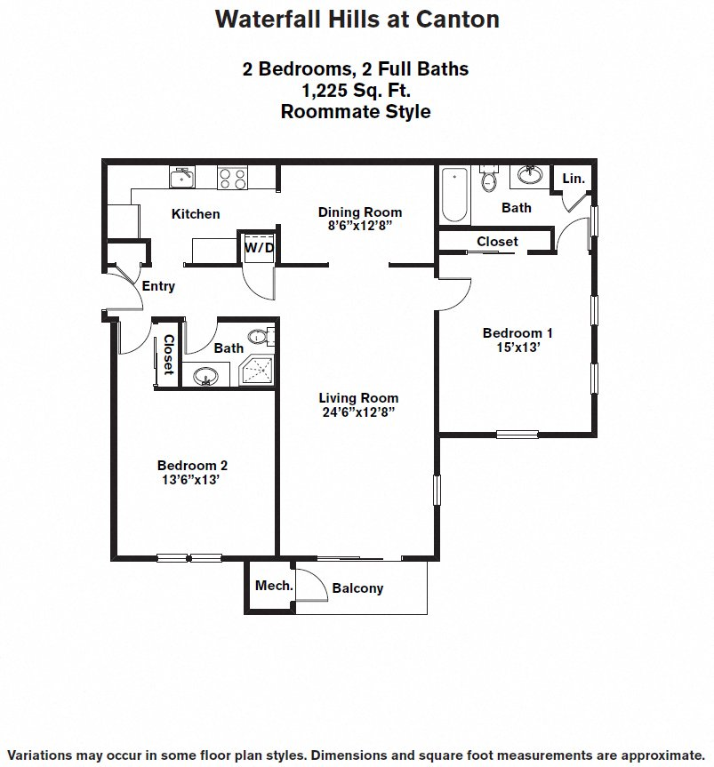 Click to view Floor plan 2 BR - Roommate image 2