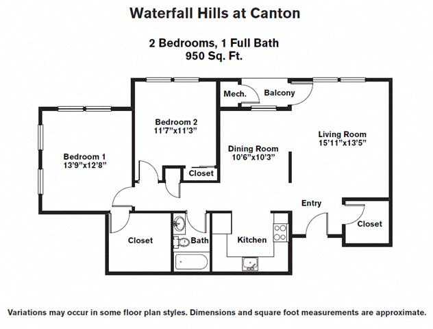 Click to view Floor plan 2 BR image 1