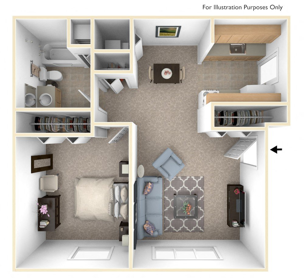 One Bedroom - Expanded