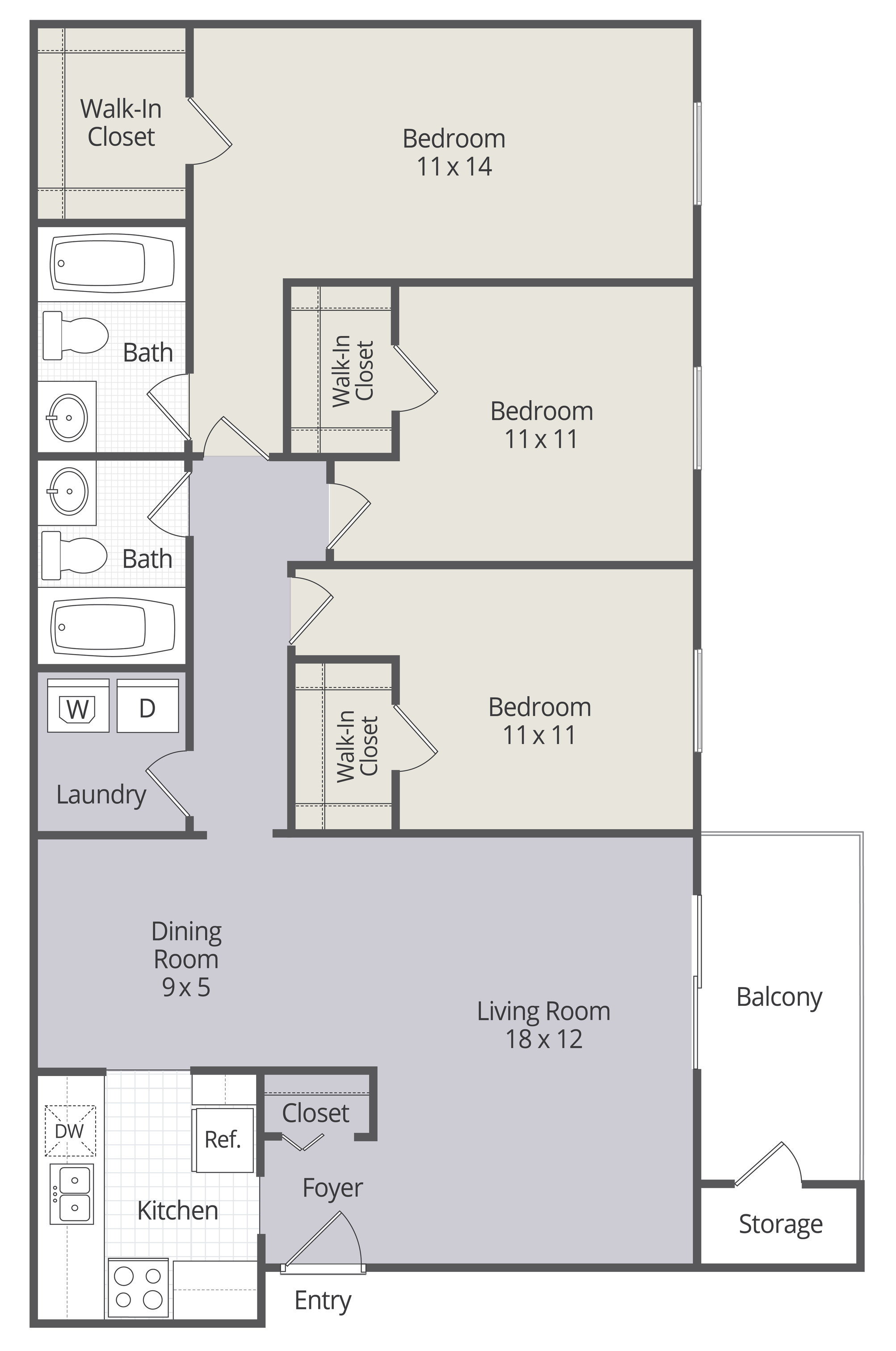 3 Bedroom. View 2 Available. View Floor Plan