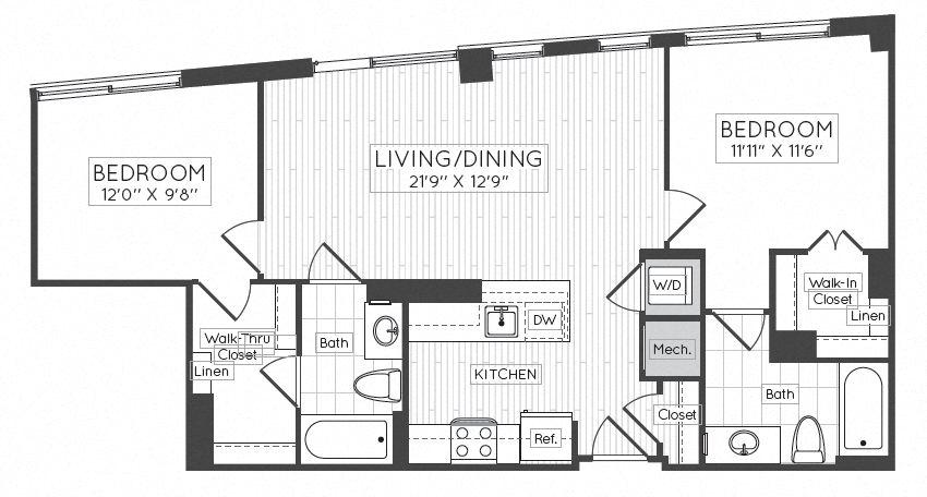 Apartment 1507 floorplan