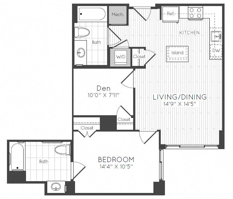 Apartment 0826 floorplan