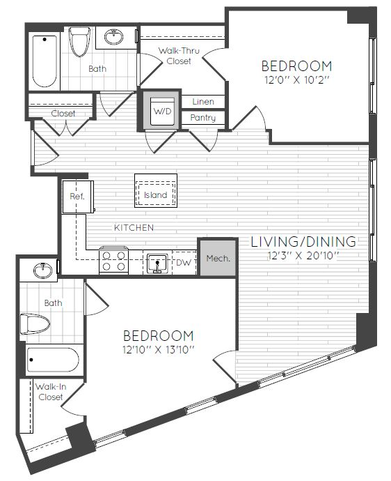 Apartment 0829 floorplan