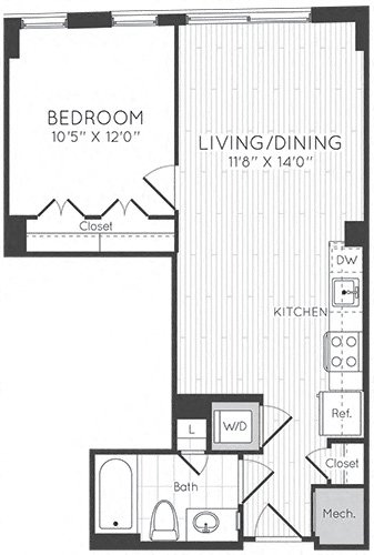 Apartment 0517 floorplan