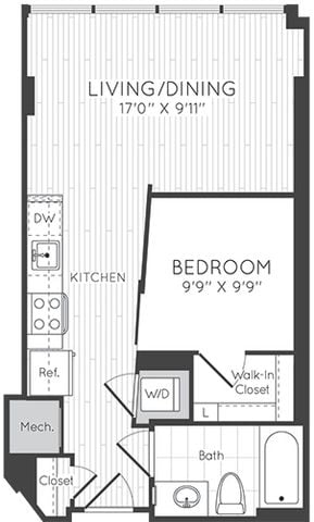 Apartment 0307 floorplan
