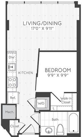 Apartment 0807 floorplan