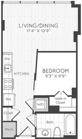 Apartment 0911 floorplan