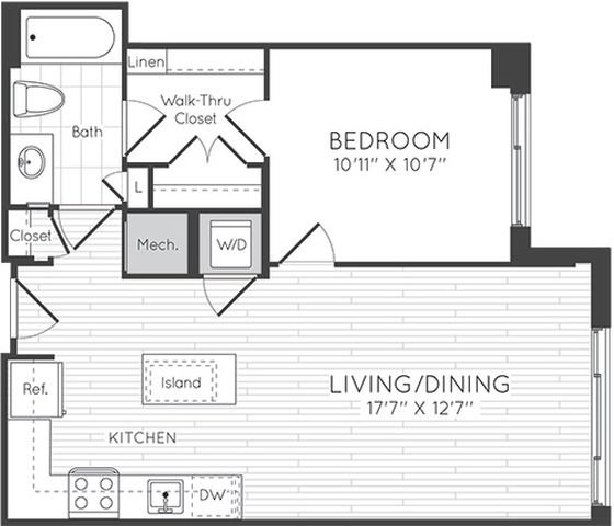 Apartment 0327 floorplan