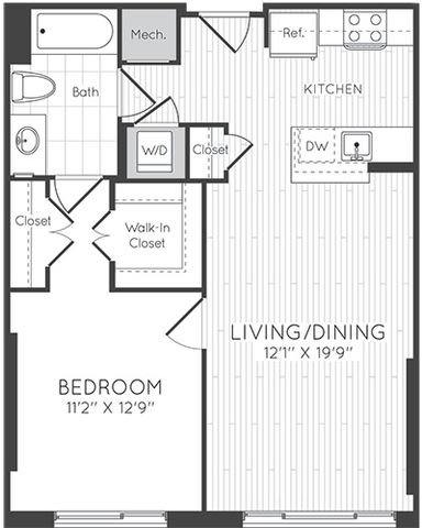 Apartment 1225 floorplan