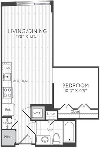 Apartment 0616 floorplan