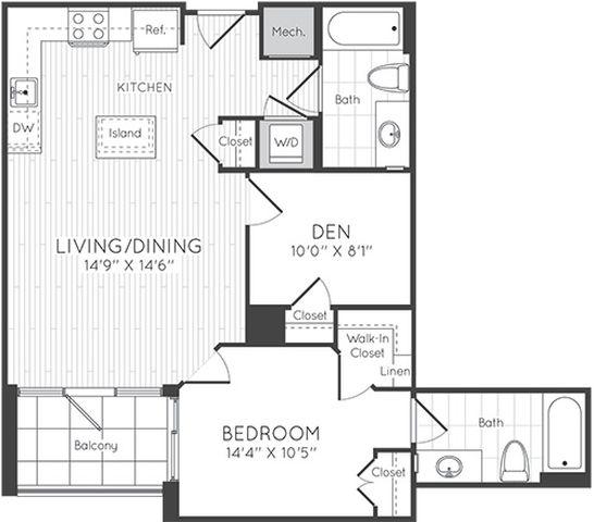 Apartment 1001 floorplan