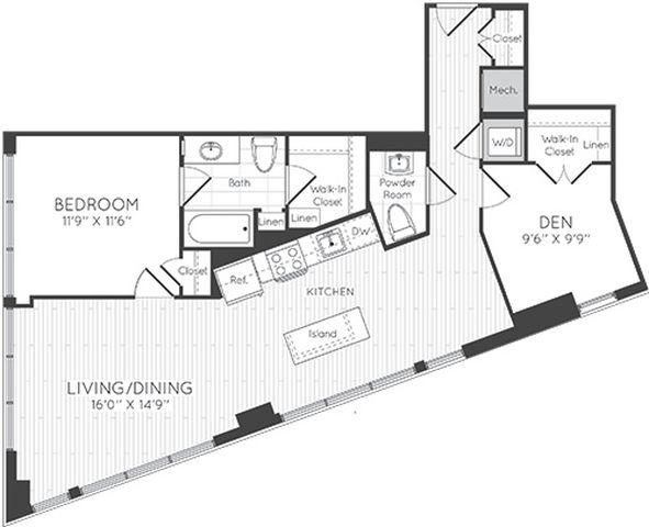 Apartment 1130 floorplan