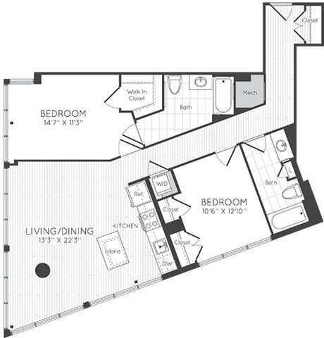 Apartment 0630 floorplan