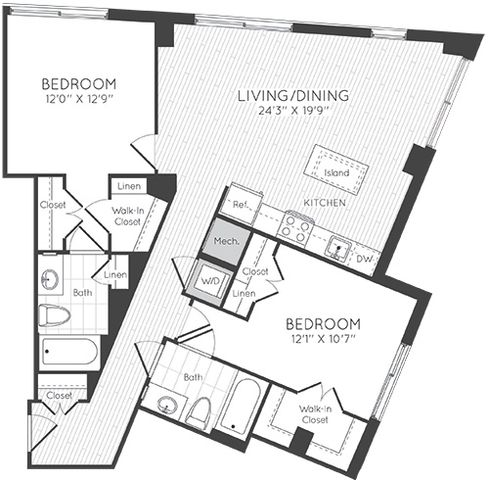 Apartment 1021 floorplan