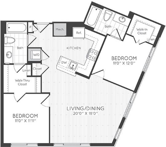Apartment 0722 floorplan