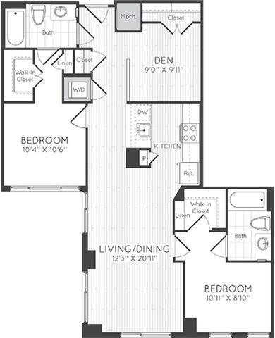Apartment 1501 floorplan
