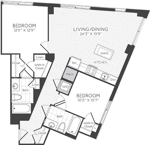 Apartment 1417 floorplan